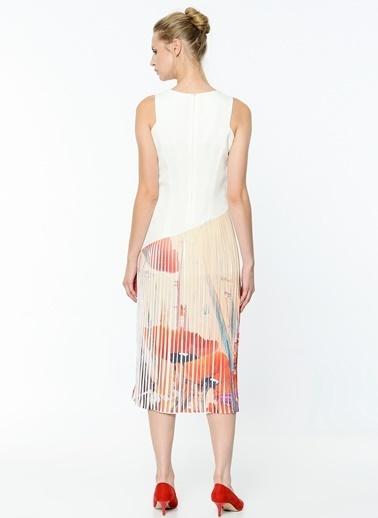 Asimetrik Kesimli Pileli Elbise-Soie Design
